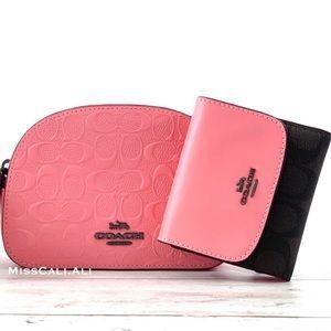 NWT COACH Mini Serena Crossbody Bag + Wallet Set - Pink Lemonade